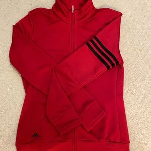 Red Adidas track zip up